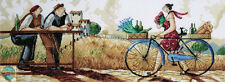 Cross Stitch Kit ~ Design Works The Delivery Tuscan Hills Woman Bicycle #DW2779