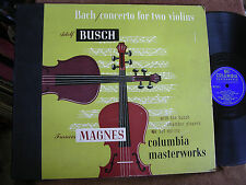 Adolf Busch-Frances Magnes/Bach Concerto for 2 Violins/Columbia Set MX-253/N-