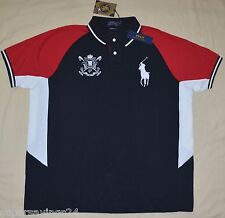 New 2XB 2XL BIG 2X POLO RALPH LAUREN Mens Big Pony Black Watch polo shirt sport