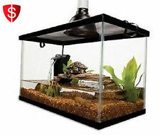 10 Gallon Aquarium Tank Kit Reptile Turtle Frog Lizard Snake Exo Animal Habitat