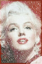 ACTRESS POSTER Marilyn Monroe: Written Images