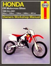 Haynes Workshop Manual HONDA CR CR80 CR125 CR250 & CR500 1986 to 2001