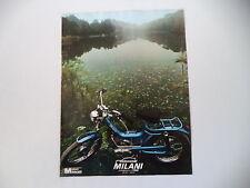 advertising Pubblicità 1977 MOTO CICLOMOTORI MILANI CARRERA