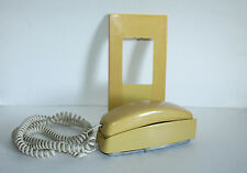Vtg Western Electric Yellow Trimline Telephone With Bell Wall Fixture Plate