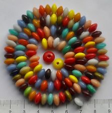 120 approx. mix of multicoloured, plain, glass beads, 8 mm  40 gms    64