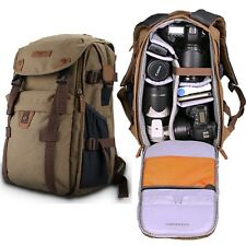 NEW Retro Canvas Theftproof Rucksack DSLR Camera Bag Backpacks For Canon & Nikon