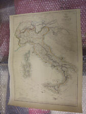 map Italy Swizerland Tyrol Alps general DISPATCH ATLAS 1863 J.Dower Framed20more