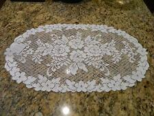 """Heritage Lace Victorian Rose  WHITE Table Runner 13"""" X 24"""""""