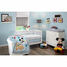 New In Package Disney Let's Go Mickey Mouse Nursery Crib Bedding Set Baby Infant