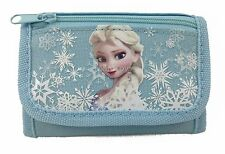 New Disney Frozen Elsa Blue Tri-Fold Mini Wallet Purse for Kids