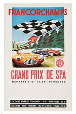 francorchamps grand prix de spa VINTAGE FRENCH POSTER sporty classic 24X36