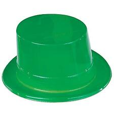 Green Plastic Top Hat Leprechaun St. Patrick'S Day Costume Accessory Prop Party