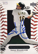 JASON GIAMBI OAKLAND A'S SIGNED CARD NEW YORK YANKEES ROCKIES CLEVELAND INDIANS