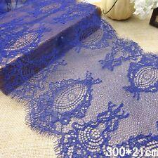 3 yrad Blue Eyelash Soft Lace 21CM width
