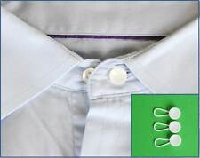 3 x Plastic Shirt Collar Cuff Extenders - Widen Expand Neck Size Button Business