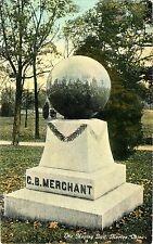 A View of the Moving Ball on the C.B. Merchant Grave Marker, Marion OH