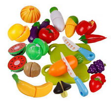 Fruit Cutting Set Kitchen Role Play Fruit Vegetable Food Reusable Pretend