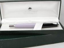 Monteverde Invincia Leather Collection Purple & Chrome Rollerball Pen - New