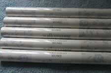 5 rolls white and blue floral LAURA ASHLEY wallpaper