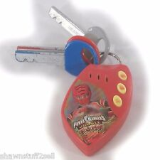 Power Rangers Jungle Fury Disney RANGER KEYCHAIN sounds kEYS sound effects red