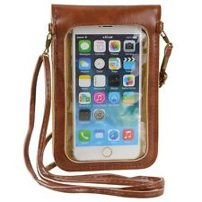 Brown Crossbody Shoulder Bag Cellphone Pouch Case for Apple iPhone 6S / 6 Plus