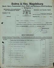 MAGDEBURG, Rechnung 1934, Posamenten- & Wollwaren-Grosshandlung Bolms & Hey