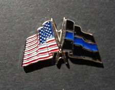 BLUE LINE FLAG PINS, BACK IN STOCK! SUPPORT AMERICAN COPS, BLUE LIVES MATTER !!!