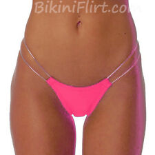 SEXY HOT PINK & SILVER SIDE THONG BIKINI BOTTOM! SKIMPY BARELY THERE! BRAND NEW