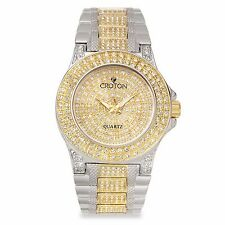 Croton Women's CN207538TTPV Balliamo Crystal Accents Quartz Two Tone Dress Watch