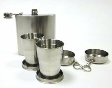 6oz (170ml) Stainless Steel Hip Flask Gift Set