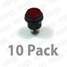 SPST (ON/OFF) ILLUMINATED PUSH BUTTON SWITCH RED 20AMPS @ 12VDC #66-2490-10PK