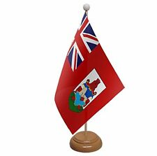 """BERMUDA TABLE FLAG 9""""X6"""" WITH WOODEN BASE FLAGS"""