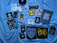 Drop Dead patches and stickers