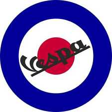 Scooter Decals British Roundel Exterior Vinyl Vespa Stickers Mod Culture Music 2