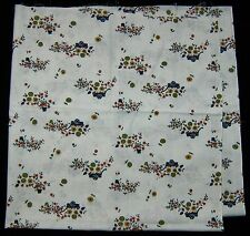"1+ Yds Vtg Feed Grain SACK Cotton Blend Fabric Floral Wagon Screen Print 43""x42"""