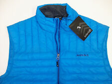 Solaris Lightweight Quilted Puffer Vest $99 Red Orange Blue Zippered Pockets NWT