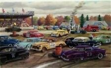 Ken Zylla Demolition Days SN Stock Car Racing  Print 30 x 18 Plus Borders