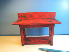 Miniature Rusty Old Service Station Work Bench : Dollhouse LR24