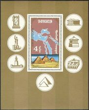 Mongolia 1990 Pyramids/Seven Wonders of the World/Lighthouse/Map 1v m/s( n17836)