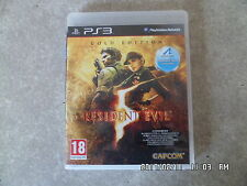 JEU PLAYSTATION 3 PS3 RESIDENT EVIL V GOLD EDITION I55