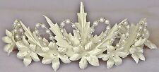 Floral Crown Holy Communion Tiara Headpiece Flower Girl Headband OFF WHITE