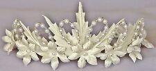 Floral Corona Sagrada Comunión Tiara casco Flores Niña Diadema Blanco Apagado