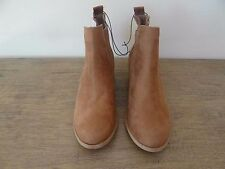 H&M Ankle Boots Tan Small Block Heel Pull On Size 6 New