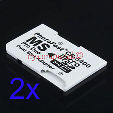 2x Micro SD TF to Memory Stick MS Pro Duo PSP Card Dual 2 Slot Adapter CR-5400