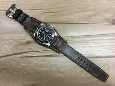 Brown Real Leather Cuff Watch Strap | Cuff Watch Band-Fit for 19,20mm Lug Watch