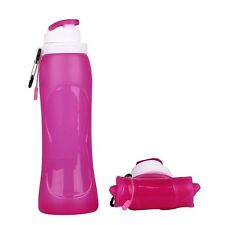 500ml Silicone Reusable Portable Collapsible Folding Water Bottle Outdoor Sport