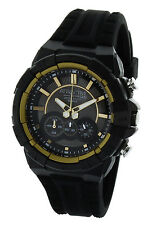 Attractive By Q&Q DG08J002Y chronographr Men's Sports Watch  Black And Gold