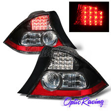 [LED] For 2004-2005 Honda Civic LX/EX 2Dr Coupe Black Clear Lens Tail Lights