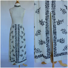 Vintage 60s White Silver Evening Gown Metallic Evening Hippie Mod