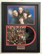 The Stone Roses FRAMED Signed Vinyl BROWN SQUIRE MANI & RENI AFTAL COA (D)